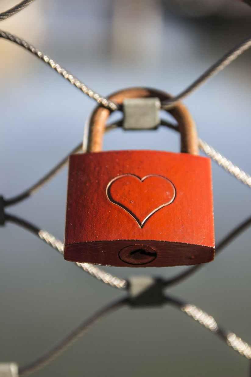 fence love padlock lock padlock