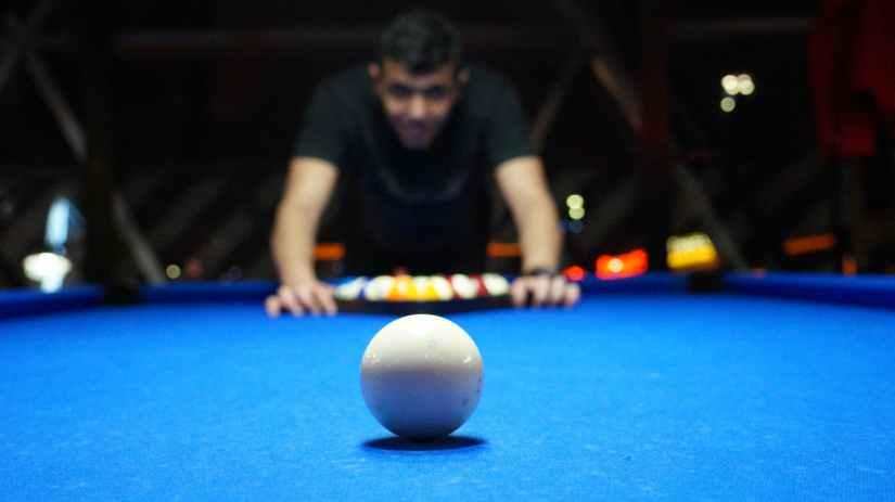 pool billiards person playing billiards